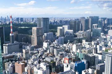 東京風景・汐留から望む銀座 日比谷 皇居方面