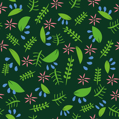 Decorative floral seamless pattern.