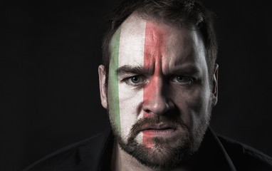 Flag of Italy on face