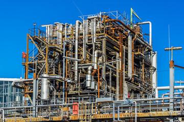 Rohre einer Öl Anlage Chemie Anlage