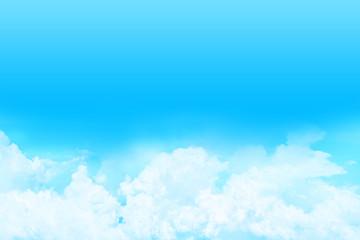 快晴の上空に浮かぶ雲
