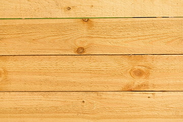The texture of the surface of pine boards.