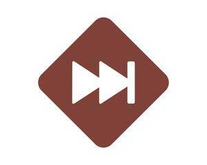 fast forward icon symbol logo vector image