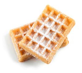 waffles with sugar