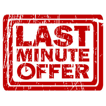 Last minute offer rubber stamp