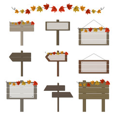 秋の看板セット / vector eps 10