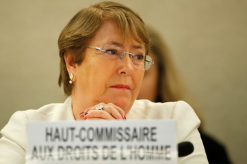 New UN High Commissioner for Human Rights Bachelet attends the Human Rights Council in Geneva