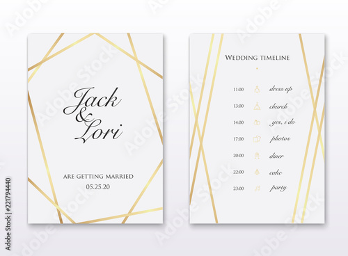 wedding invitation cards with gold design save the date wedding