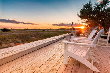 Fototapete - Sunset view of the beach at Cape Cod, Massachusetts, USA