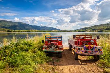 Thai Farmer Trucks in Nature