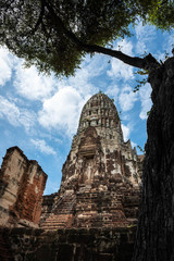 The pagoda in Ayutthaya Historical Park.