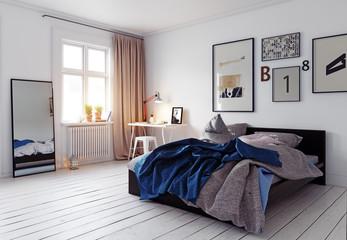 Fototapeta modern bedroom interior obraz