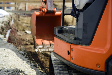 landscaping work; Backhoe to excavate the ground
