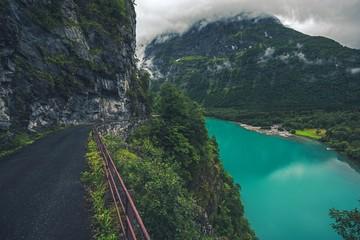 Wall Mural - Glacial Lake in Norway