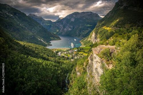Wall mural Famous Gejrangerfjord Norway