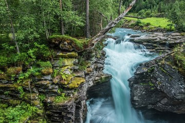 Wall Mural - Scenic Waterfall Place