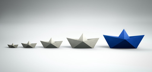 Paperboats - Leadership concept