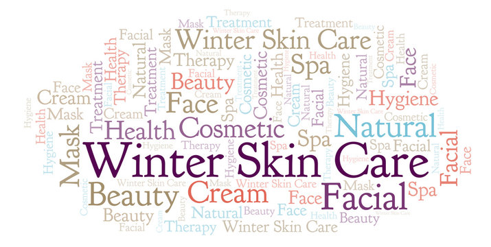 Winter Skin Care word cloud.