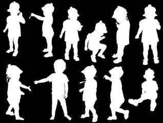 eleven children collection on black