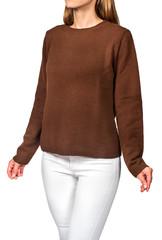 Model in sweater