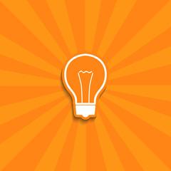bulb simple icon