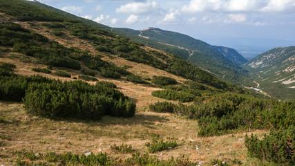 Amazing Landscape from Route to climbing a Musala peak, Rila mountain, Bulgaria