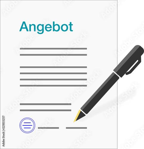Formular Briefbogen Vorlage Für Ein Angebot Mit Unterschrift
