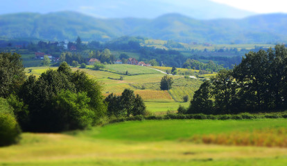 Summer mountain landscape in Serbia