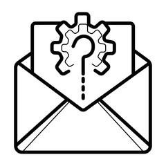 Message, vector icon