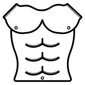 strong muscle icon vector