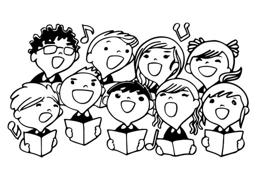 Children choir for coloring