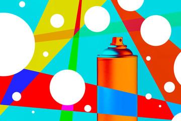 Color spray can