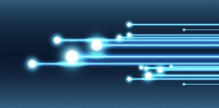 fibra ottica, stella cadente, particella, particelle