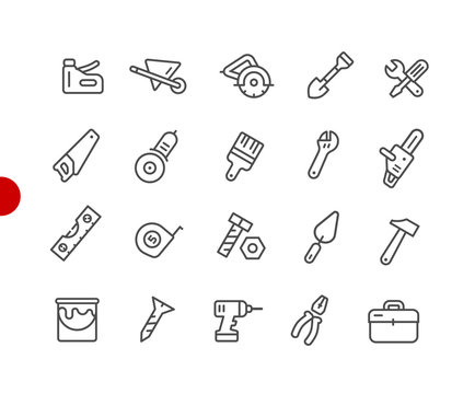 Tools Icons // Red Point Series - Vector line icons for  your digital or print projects.