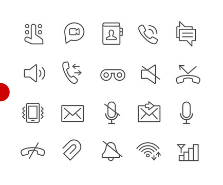 Web & Mobile Icons 1 // Red Point Series - Vector line icons for  your digital or print projects.