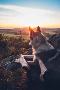 Sunrise in rocks