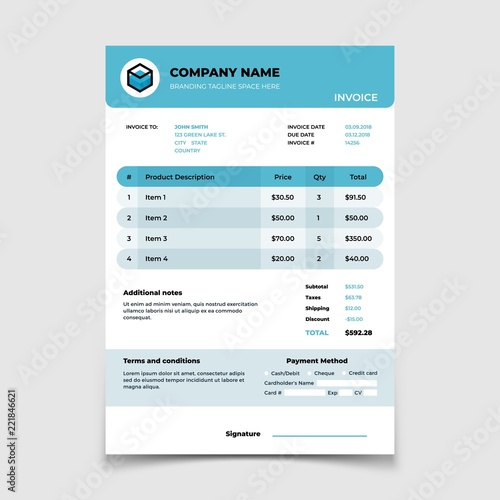 Invoice template bill form bookkeeping vector document design invoice template bill form bookkeeping vector document design vector accounting service price calculation maxwellsz