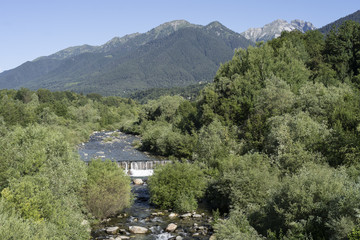 Val Vigezzo: the valley near Malesco at summer
