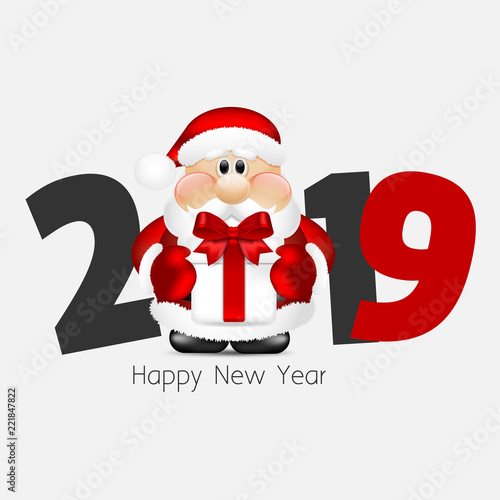 2019. Merry Christmas and Happy New Year. Santa Claus\