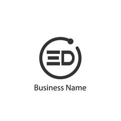 Initial Letter ED Logo Template Design