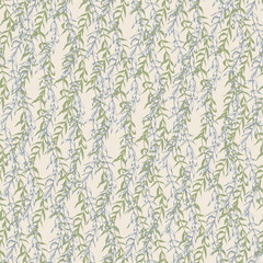 Graphic floral seamless pattern - flower branches on biege background. For wedding stationary, greetings, wallpapers, fashion, logo, wrapping paper, fashion, textile, etc.