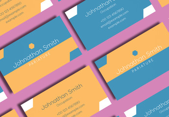 Yellow and Blue Business Card Layout