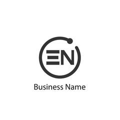 Initial Letter EN Logo Template Design