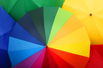 Wall Mural - Many stylish colorful umbrellas as background, closeup