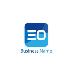 Initial Letter EO Logo Template Design