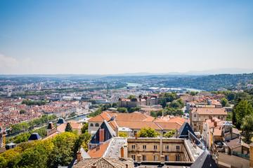 Vue de Lyon vu depuis la basilique de Fourvière