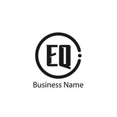 Initial Letter EQ Logo Template Design