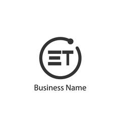 Initial Letter ET Logo Template Design