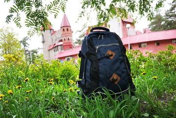 Large travel backpack for sports, recreation and travel