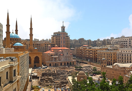 Downtown Beirut Skyline, Lebanon
